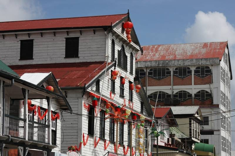 Old buildings in Paramaribo